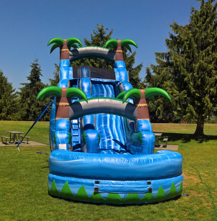 18ft Blue Crush Water Slide